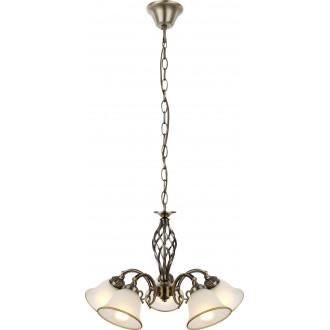 GLOBO 60208-5 | Odin Globo luster svjetiljka 5x E27 antik bakar, opal