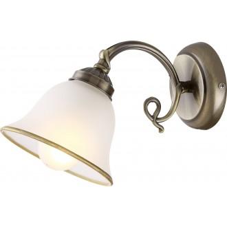 GLOBO 60208W | Odin Globo zidna svjetiljka 1x E27 antik bakar, opal