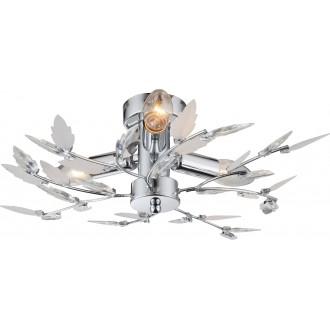 GLOBO 63100-3 | Vida Globo stropne svjetiljke svjetiljka 3x E14 krom, bijelo, prozirno