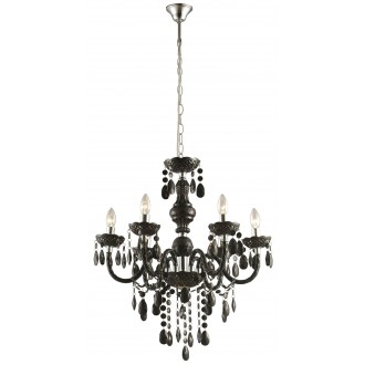 GLOBO 63110-6 | Cuimbra-I Globo luster svjetiljka 6x E14 krom, crno