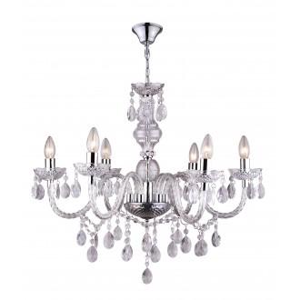 GLOBO 63116-6 | Cuimbra-I Globo luster svjetiljka 6x E14 krom, prozirno