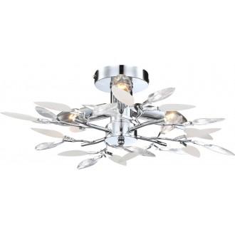GLOBO 63160-3 | Vida Globo stropne svjetiljke svjetiljka 3x E14 krom, prozirno, bijelo
