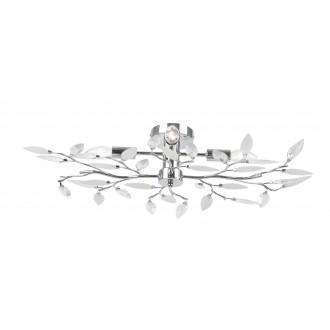 GLOBO 63160-4 | Vida Globo stropne svjetiljke svjetiljka 4x E14 krom, prozirno, bijelo
