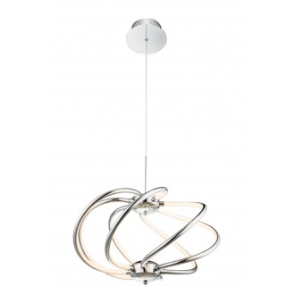 GLOBO 67823-40H | WaveG Globo visilice svjetiljka 1x LED 2000lm 3000K krom, bijelo