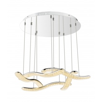GLOBO 67833-60H | Nabro Globo visilice svjetiljka 1x LED 6180lm 3500K krom, prozirno
