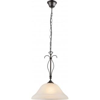 GLOBO 68410H | Aries Globo visilice svjetiljka 1x E27 rdža smeđe, alabaster