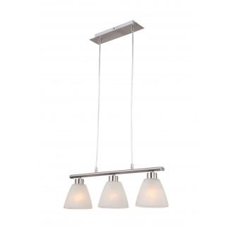 GLOBO 68615-3 | Illimani Globo visilice svjetiljka 3x E14 poniklano mat, alabaster
