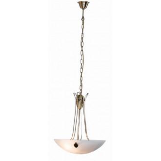 GLOBO 6897-3 | Scale Globo visilice svjetiljka 3x E27 antik bakar, alabaster