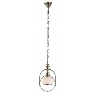 GLOBO 6900 | Nostalgika Globo visilice svjetiljka 1x E14 antik bakar, opal