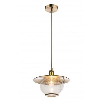 GLOBO 69030H | Nevis Globo visilice svjetiljka 1x E27 antik brončano, prozirno, efekt mjehura