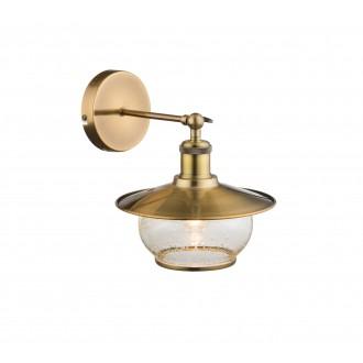 GLOBO 69030W | Nevis Globo zidna svjetiljka 1x E27 antik brončano, prozirno, efekt mjehura