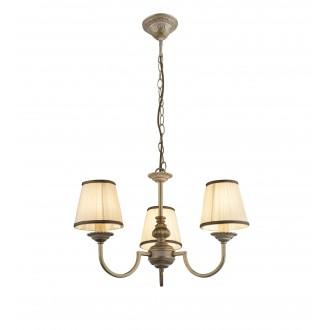 GLOBO 69031-3 | Upolu Globo luster svjetiljka 3x E14 bijelo, zlatno, bijelo