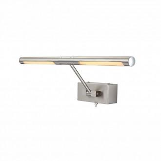 GLOBO 78300 | Picture Globo zidna svjetiljka s prekidačem izvori svjetlosti koji se mogu okretati 2x LED 360lm 3000K krom, poniklano mat
