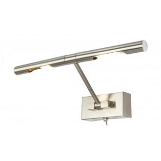 GLOBO 7830L | Picture Globo zidna svjetiljka s prekidačem elementi koji se mogu okretati 2x G9 560lm 3000K poniklano mat
