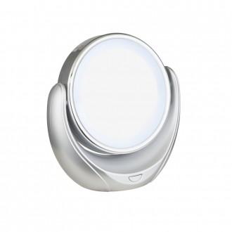 GLOBO 84026 | Towada Globo nosiva zrcalo s prekidačem 1x LED srebrno, bijelo, zrcalo