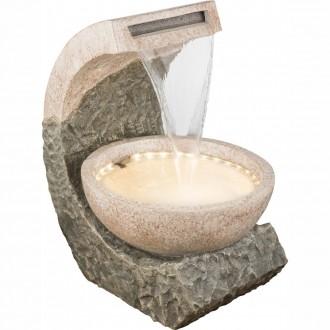 GLOBO 93018 | Globo fontana za sobu svjetiljka 36x LED IP44 smeđe, kamen