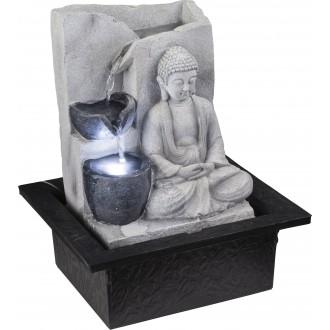 GLOBO 93019 | Globo fontana za sobu svjetiljka 1x LED sivo, kamen