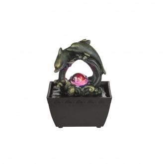 GLOBO 93027 | Globo fontana za sobu svjetiljka promjenjive boje 1x LED RGBK crno, antik