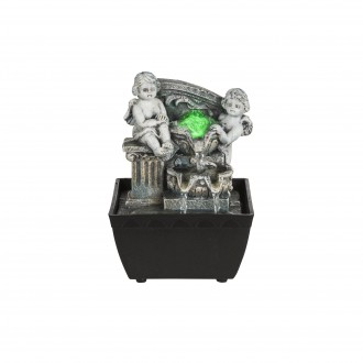 GLOBO 93028 | Globo fontana za sobu svjetiljka promjenjive boje 1x LED RGBK crno, antik