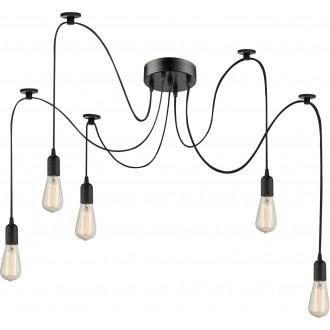 GLOBO A110-5 | Maracana Globo visilice svjetiljka 5x E27 metal crna