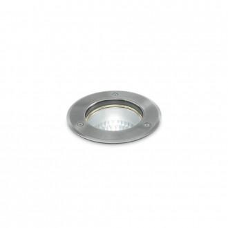 IDEAL LUX 032832   Park-IL Ideal Lux ugradbena svjetiljka - PARK PT1 ROUND SMALL - Ø120mm 120x120mm 1x GU10 IP54 čelik, prozirno