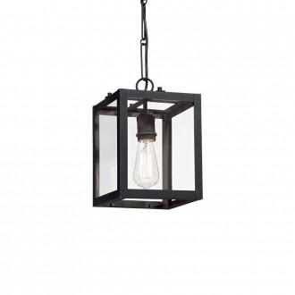 IDEAL LUX 092850 | Igor-IL Ideal Lux visilice svjetiljka - IGOR SP1 NERO - 1x E27 crno mat, prozirno