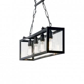 IDEAL LUX 092942 | Igor-IL Ideal Lux visilice svjetiljka - IGOR SP4 NERO - 4x E27 crno mat, prozirno