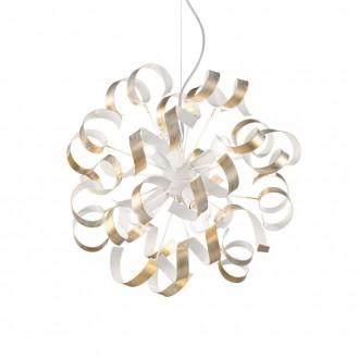 IDEAL LUX 101606 | Vortex Ideal Lux visilice svjetiljka - VORTEX SP6 ORO - 6x E14 bijelo, opal, zlatno