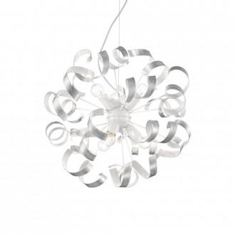 IDEAL LUX 101613 | Vortex Ideal Lux visilice svjetiljka - VORTEX SP6 ARGENTO - 6x E14 bijelo, opal, srebrno