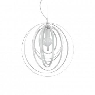 IDEAL LUX 103723 | Disco-IL Ideal Lux visilice svjetiljka - DISCO SP1 BIANCO - elementi koji se mogu okretati 1x E27 bijelo mat