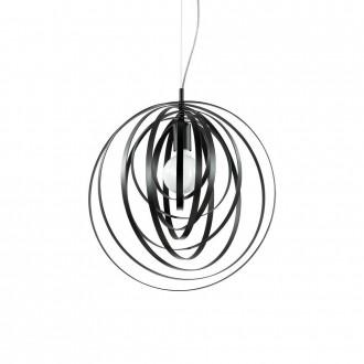 IDEAL LUX 114262 | Disco-IL Ideal Lux visilice svjetiljka - DISCO SP1 NERO - elementi koji se mogu okretati 1x E27 crno mat