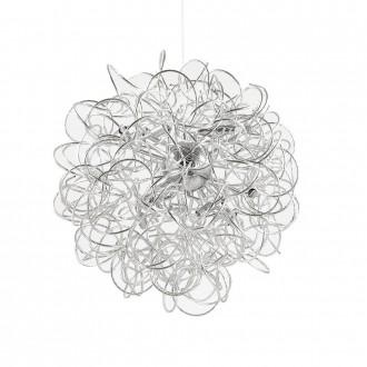IDEAL LUX 114361 | Dust-IL Ideal Lux visilice svjetiljka - DUST SP12 - s mogućnošću skraćivanja kabla 12x G9 3600lm 3000K srebrno