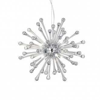 IDEAL LUX 115801 | Pauline-IL Ideal Lux visilice svjetiljka - PAULINE SP8 - s mogućnošću skraćivanja kabla 8x G9 2400lm 3000K krom