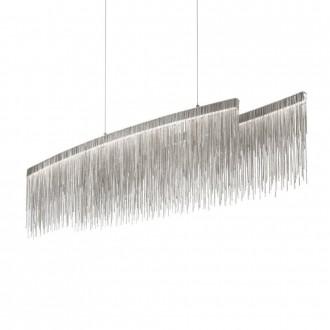 IDEAL LUX 137056 | Versus Ideal Lux visilice svjetiljka - VERSUS SP OVAL - 1x LED 4300lm 3000K krom