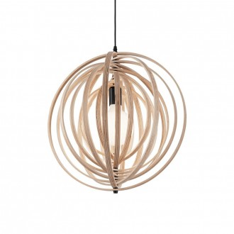 IDEAL LUX 138275 | Disco-IL Ideal Lux visilice svjetiljka - DISCO SP1 LEGNO - elementi koji se mogu okretati 1x E27 drvo