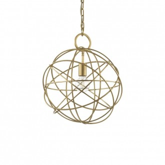 IDEAL LUX 155968 | Konse Ideal Lux visilice svjetiljka - KONSE SP1 - s mogućnošću skraćivanja kabla 1x E27 zlatno