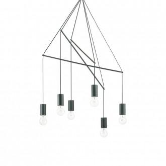 IDEAL LUX 158815 | Pop-IL Ideal Lux visilice svjetiljka - POP SP6 NERO - 6x E27 crno mat