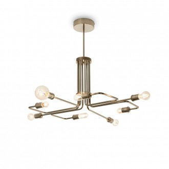 IDEAL LUX 160269 | Triumph Ideal Lux visilice svjetiljka - TRIUMPH SP8 OTTONE ANTICO - 8x E27 antik bakar