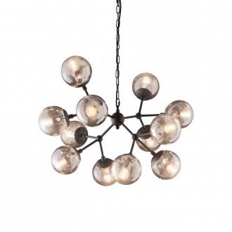IDEAL LUX 162201 | Kepler Ideal Lux visilice svjetiljka - KEPLER SP12 - 12x E27 crno mat, jantar
