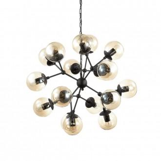 IDEAL LUX 162478 | Kepler Ideal Lux visilice svjetiljka - KEPLER SP18 - 18x E27 crno mat, jantar