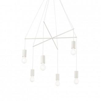 IDEAL LUX 186795 | Pop-IL Ideal Lux visilice svjetiljka - POP SP6 BIANCO - 6x E27 bijelo mat