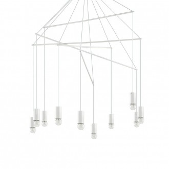 IDEAL LUX 186801 | Pop-IL Ideal Lux visilice svjetiljka - POP SP10 BIANCO - 10x E27 bijelo mat