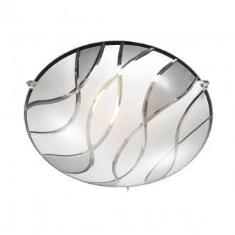 ITALUX C29367YK-2 | Naomi-IT Italux stropne svjetiljke svjetiljka 1x E27 krom, bijelo, prozirna