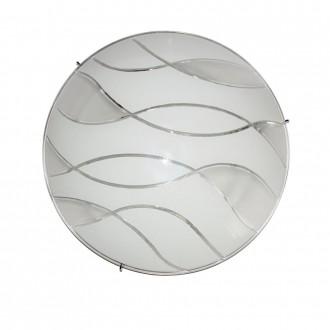 ITALUX C29367YK-3 | Naomi-IT Italux stropne svjetiljke svjetiljka 2x E27 krom, bijelo, prozirna
