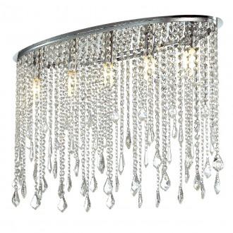 ITALUX MA04928C-005 | Kaas Italux stropne svjetiljke svjetiljka 5x E14 krom, prozirno, prozirno