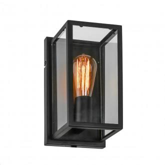 ITALUX MB-402621-1-B | Laverno Italux zidna svjetiljka 1x E27 crno, prozirno