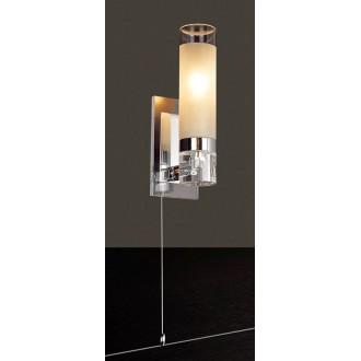 ITALUX MB030101-1C | Hook-IT Italux zidna svjetiljka s poteznim prekidačem 1x E14 krom, bijelo
