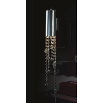 ITALUX MB93708-1A | Larix Italux stropne svjetiljke svjetiljka 1x GU10 3000K krom, srebrno, prozirno