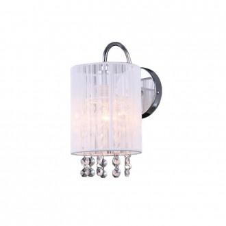 ITALUX MBM1787/1 WH | Lana-IT Italux zidna svjetiljka 1x E14 krom, bijelo, prozirno