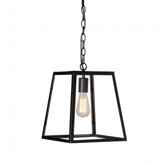 ITALUX MD-102821-1-B | Laverno Italux visilice svjetiljka 1x E27 crno, prozirno